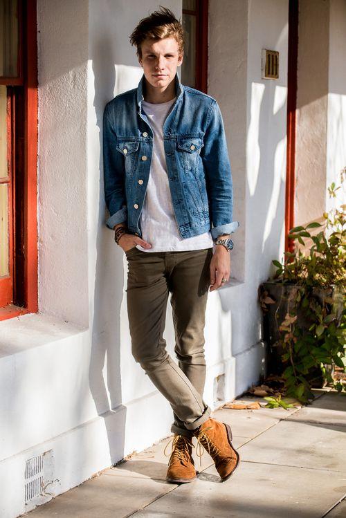 Look Masculino Jaqueta Jeans