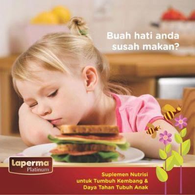Cara Mengatasi Anak Susah Makan dengan Laperma Platinum