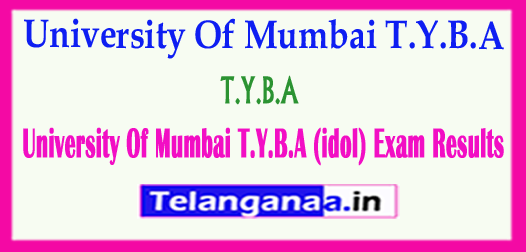 University Of Mumbai T.Y.B.A (idol) 2018 Exam Results Download