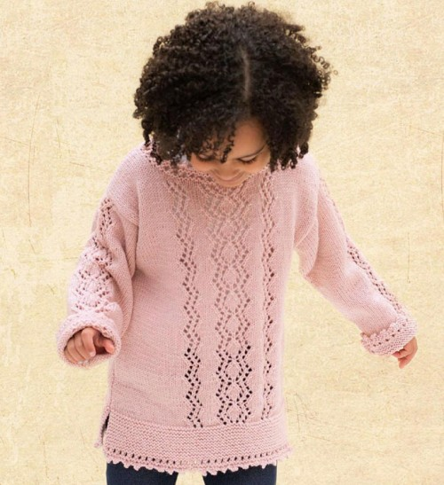 Zigzag sweater for girl - Free pattern