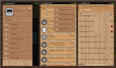 BBM MOD WOOD THEMES NEW V2.12.0.9 FULL FEATURES