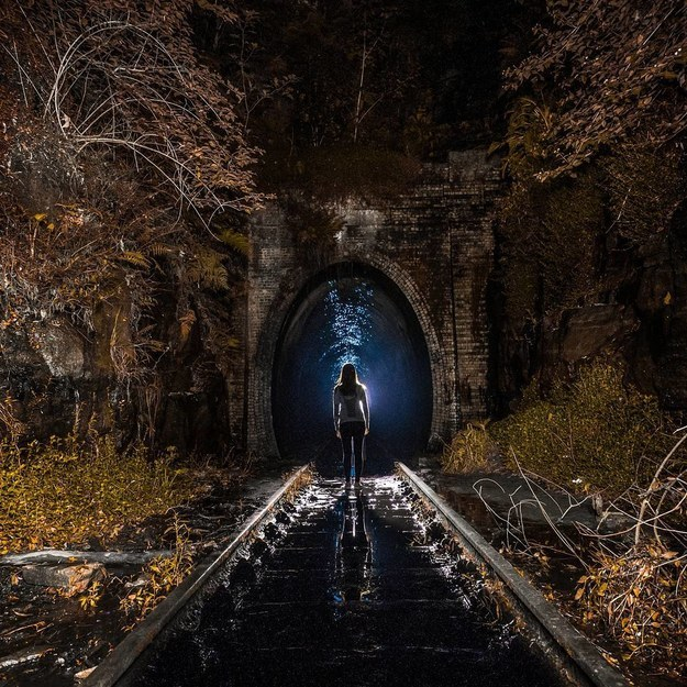 17 Real Places That Are Probably Portals To The Wizarding World - Helensburgh Old Railway Tunnel in Helensburgh, Australia