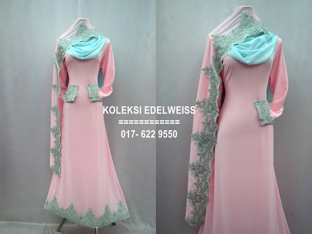 Baju kahwin Baju Tunang NIkah Simple Warna  Soft Pink