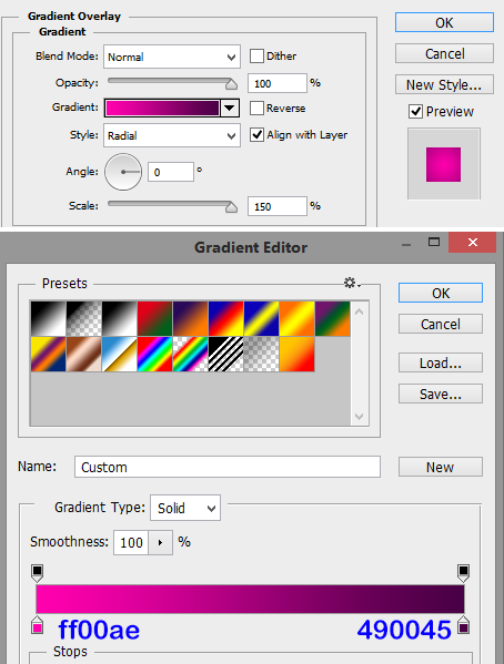 Gradient-overlay-settings-in-Photoshop-layer-style