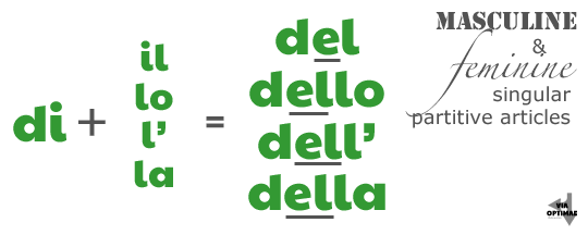 di + il, lo, l' , la = del, dello, dell' della, Partitive Articles on Via Optimae, https://www.viaoptimae.com/2014/08/the-partitive-article.html