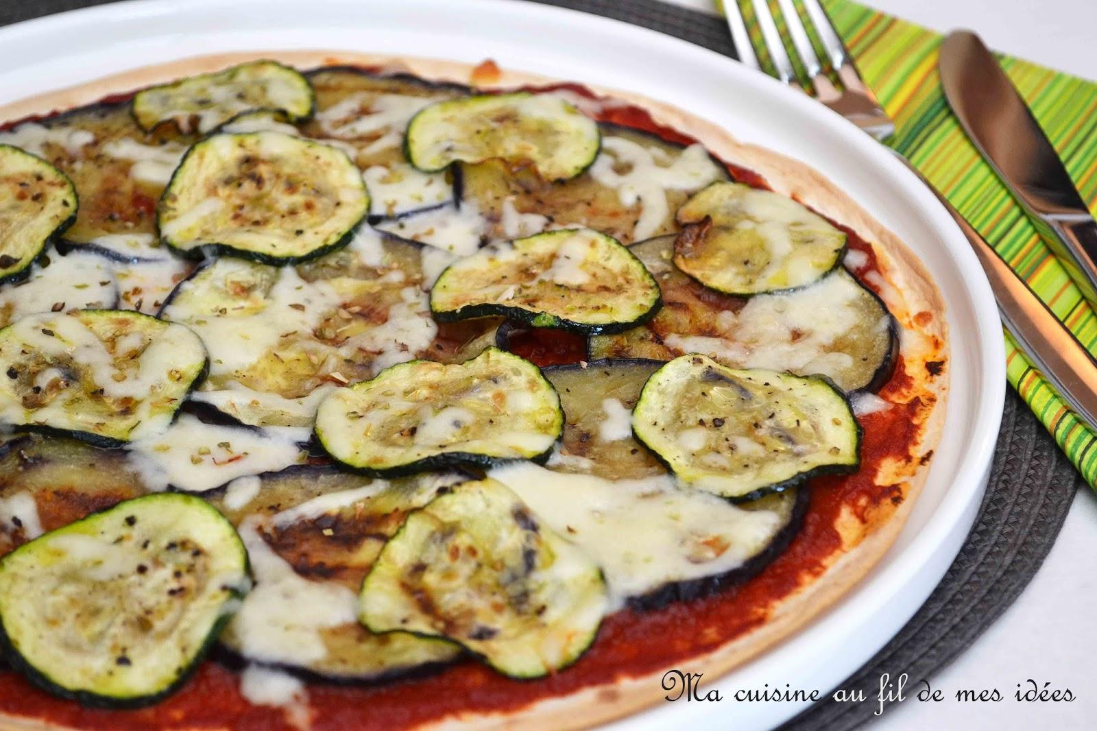 ma cuisine au fil de mes id es pizza wrap aux courgettes et aubergines grill es. Black Bedroom Furniture Sets. Home Design Ideas