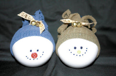 Snowmen Glass Ball Ornaments 1