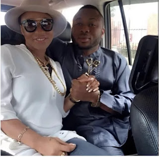 tonto2 - Tonto Dikeh son Pose With Policeman In Photo