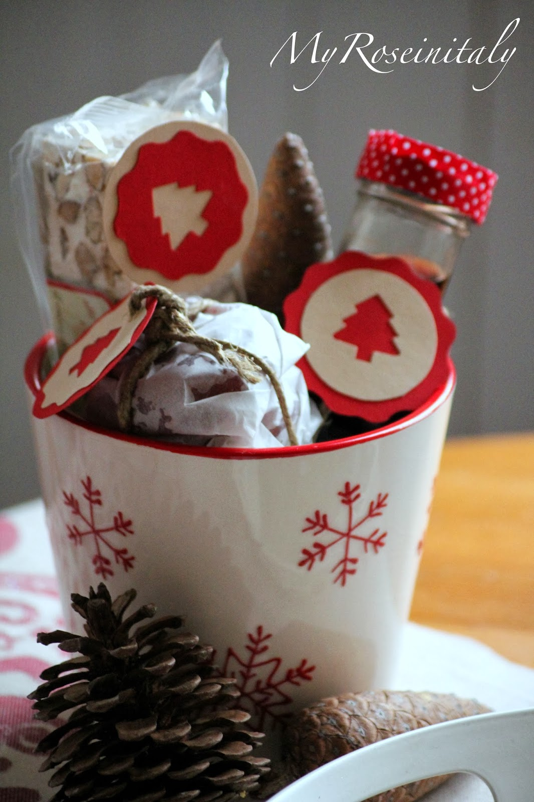 My roseinitaly regali handmade cache pot natalizio for Casa e regali