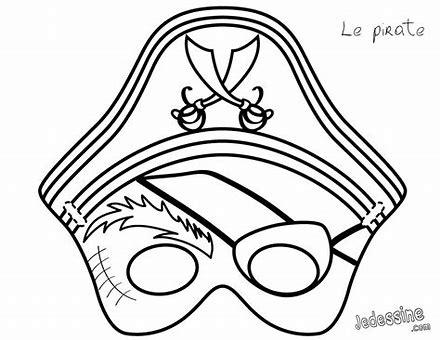 Máscara de pirata para imprimir