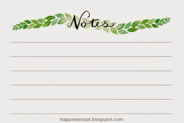Stationery created by Happiness is - watercolour leaves notepad