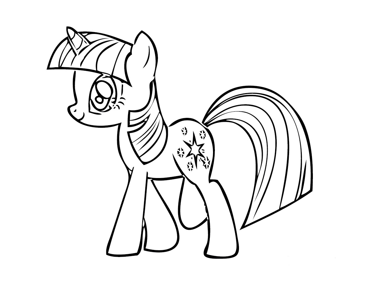 my little pony twilight sparkle coloring page - my little pony