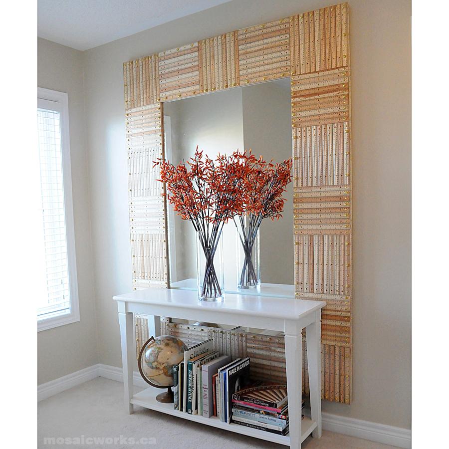 Ruler Mirror | 30 Amazing DIY Mirrors