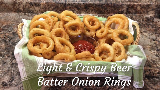 Light & Crispy Beer Batter Onion Ring Recipe