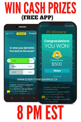 Swag IQ Cash Prizes
