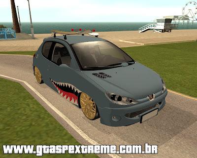 Peugeot 206 Shark Edit para GTA San Andreas