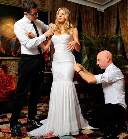 Vestido de noiva estilo sereia das famosas, Fergie