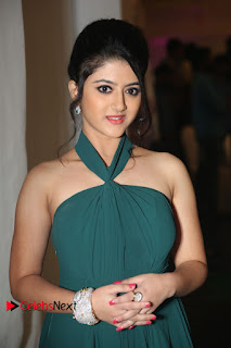 Actress Shriya Sharma Pictures in Long Dress at Nirmala Convent Audio Launch 0022.JPG