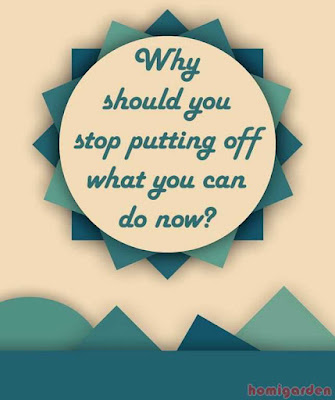 Why should you stop putting off what you can do now?