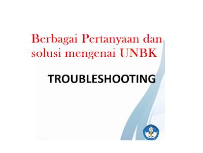 Pertanyaan dan solusi mengenai UNBK