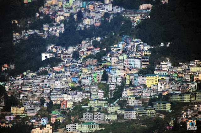 view of gangtok sikkim from rumtek