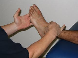 pengukuran goniometri pada plantar ankle pertama