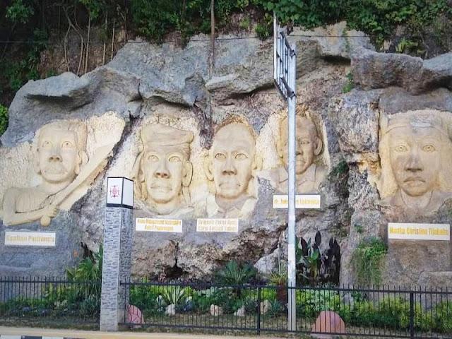 Wajah Lima Tokoh Pejuang asal Maluku Diabadikan di Tebing Batu Tantui