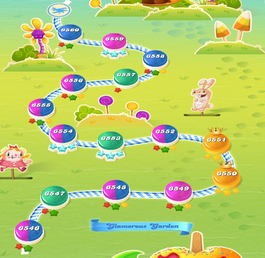 Candy Crush Saga level 6546-6560