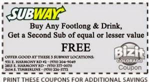 subway coupons 2016