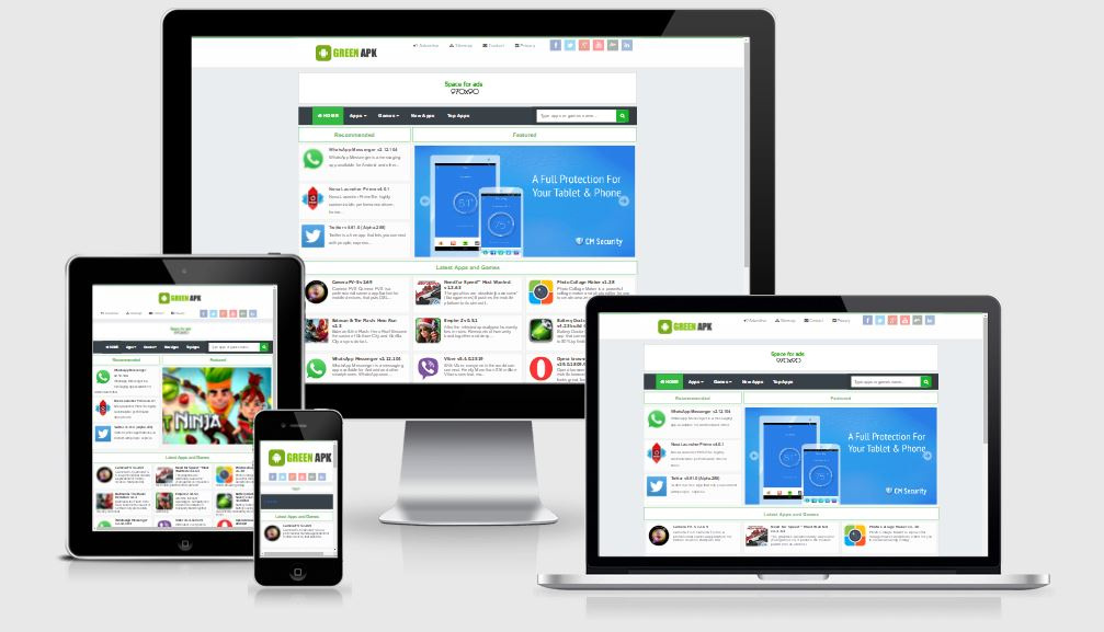 Green Apk Responsive Blogger Template - Template download ứng dụng tuyệt đẹp