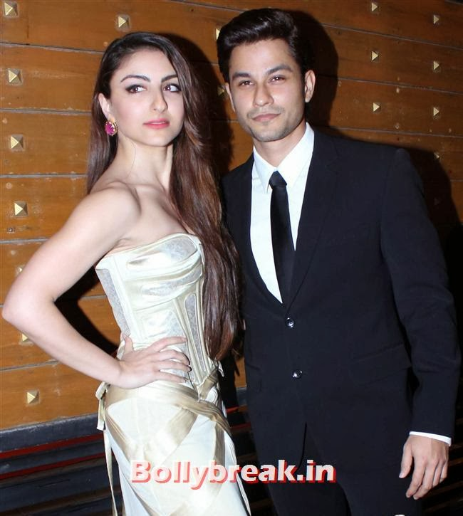 Soha Ali Khan and Kunal Khemu, Filmfare Awards 2014 Red carpet Images