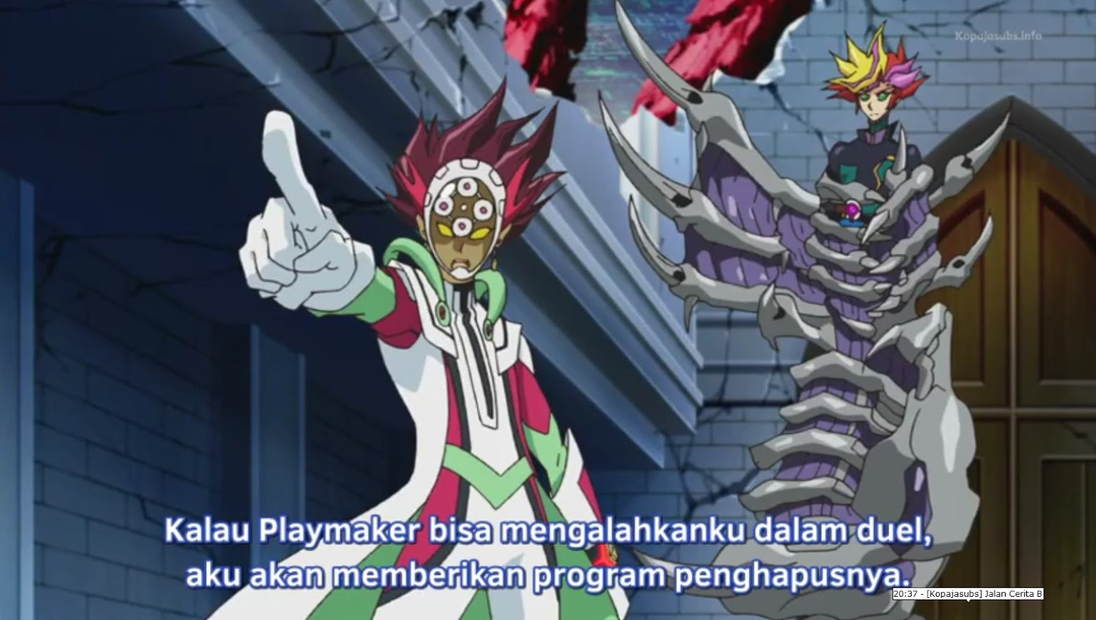 yu-gi-oh! vrains episode 8 subtitle indonesia | black avelic
