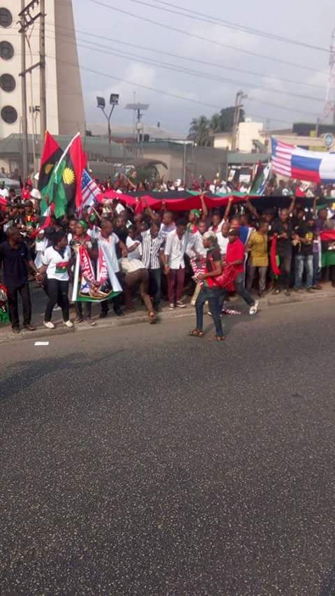 More photos from IPOB-Trump rally in Port Harcourt