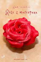 Proste róże z marcepanu - krok po kroku
