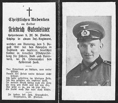 German death card, 5 August 1941 worldwartwo.filminspector.com