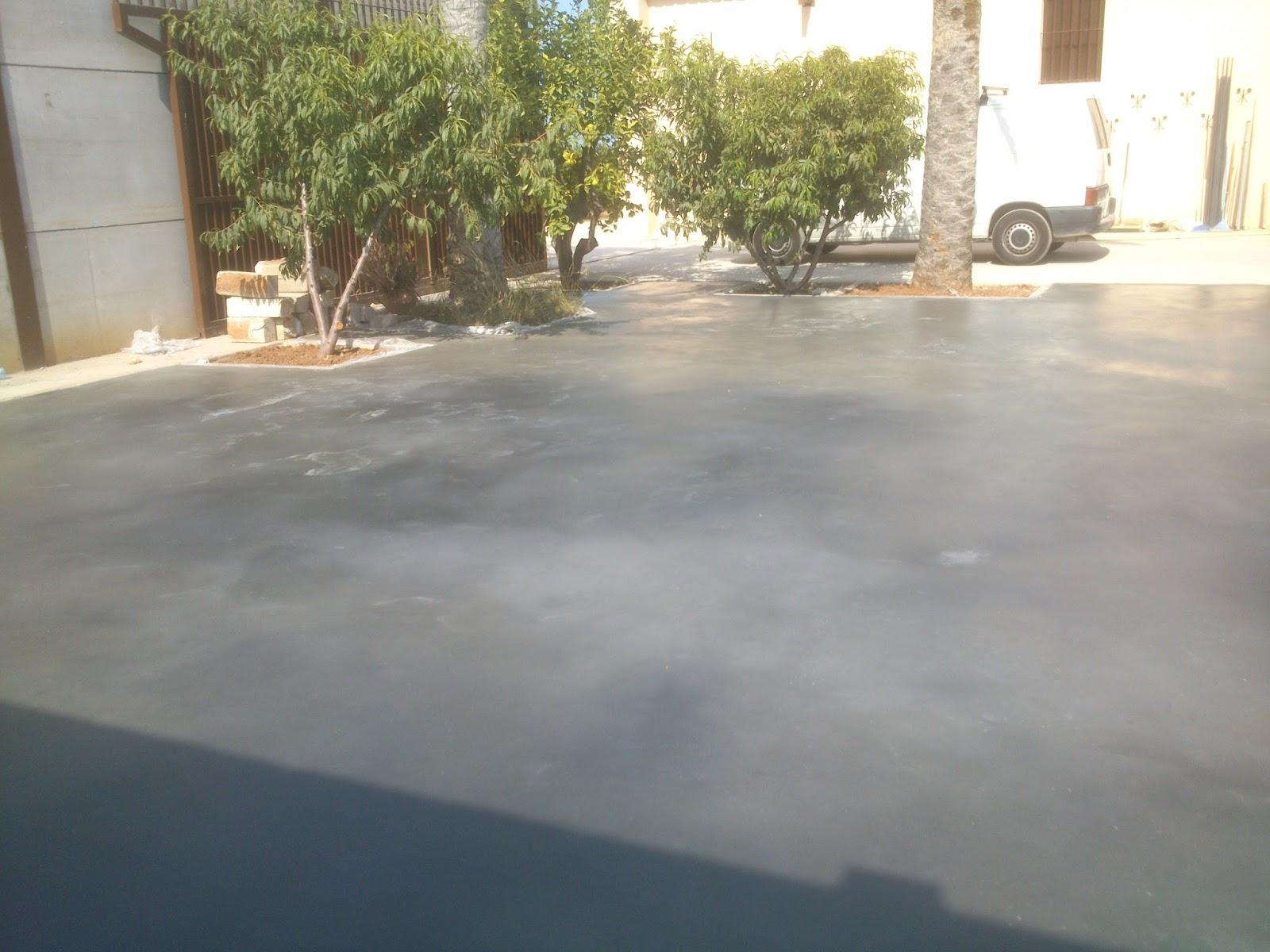 Pavimento continuo de hormig n liso en denia color gris - Helicoptero para hormigon ...
