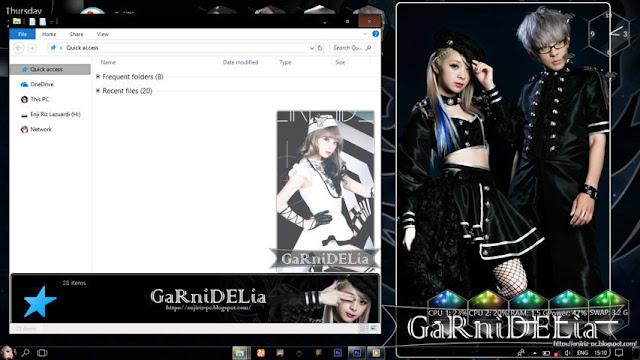 Windows 10 Ver. 1703 Theme GARNiDELiA by Enji Riz
