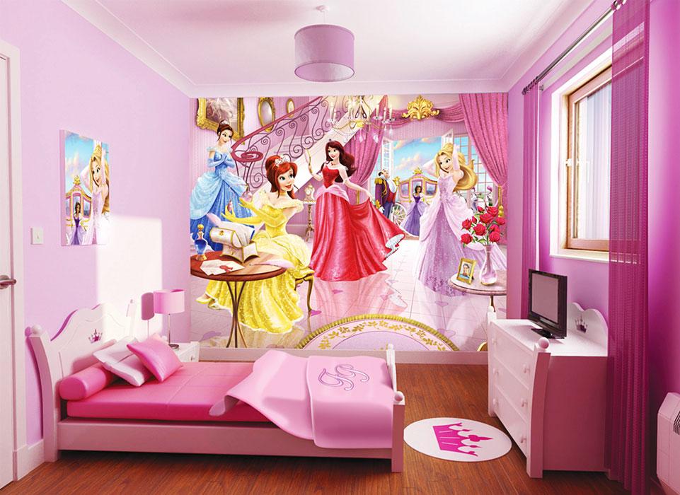 Dormitorios de princesa disney dormitorios colores y estilos for Crea tu mural disney