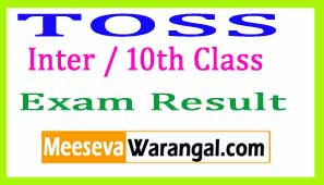 TOSS Inter / 10th Class / SSC Result Download