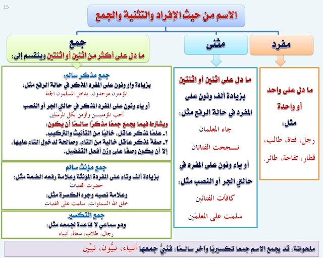 قواعد اللغة العربية : المثنى
