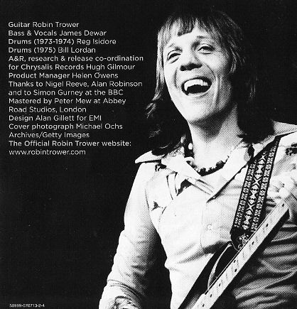 the magic music house cd review robin trower at the bbc 1973 1975 2 cd set release. Black Bedroom Furniture Sets. Home Design Ideas