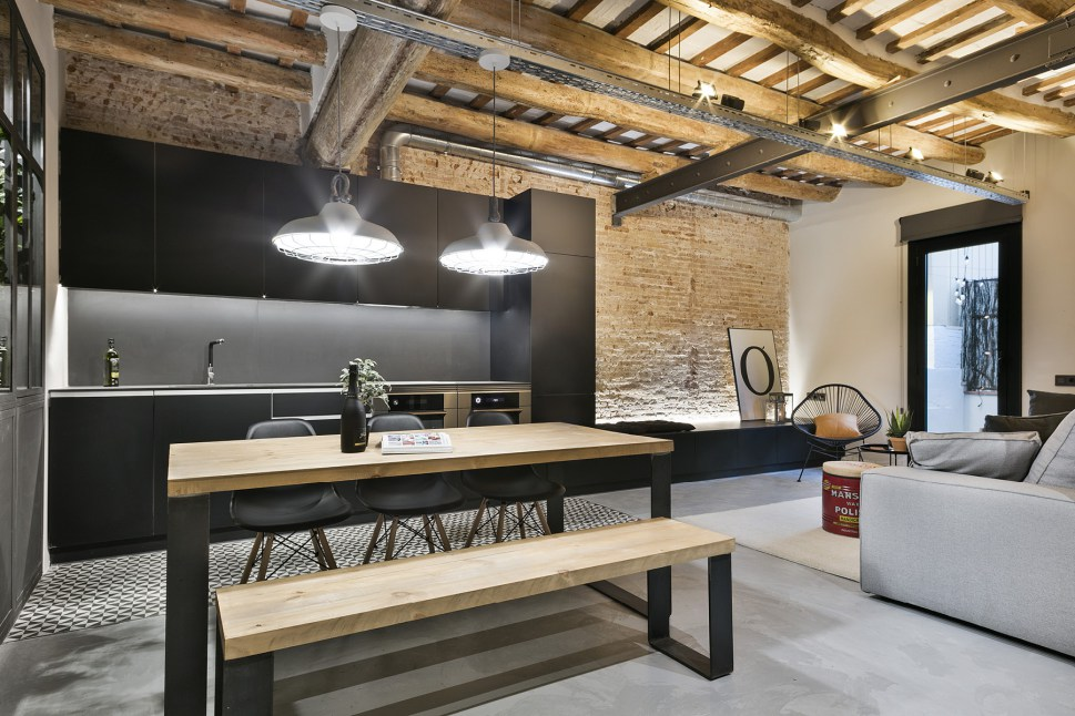 ... The Design Studio Dröm Living Reformed A Space Almost In Ruins Into An  Amazing Industrial Style Apartment Reminiscent Of An Old New York Loft.