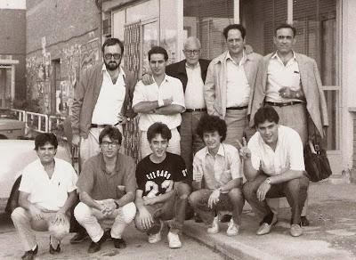 Equipo del C. C. Sant Andreu en su desplazamiento a Lérida, temporada 1986/87