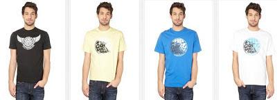 Camisetas para chico de la marca Rip Curl baratas