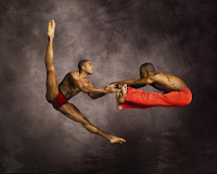 Modern dancing with The Alvin Ailey American Dance Theatre