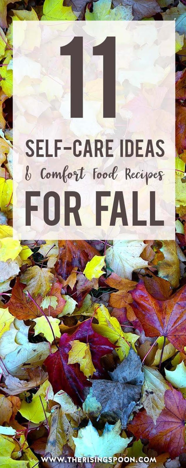 Want to slow down and truly enjoy the fall season? Check out this inspiring list of fall-themed self-care ideas and comfort food recipes from some of my favorite blogger friends. Add a few to your weekly routine & you'll be feeling relaxed, present, and nourished in no time.