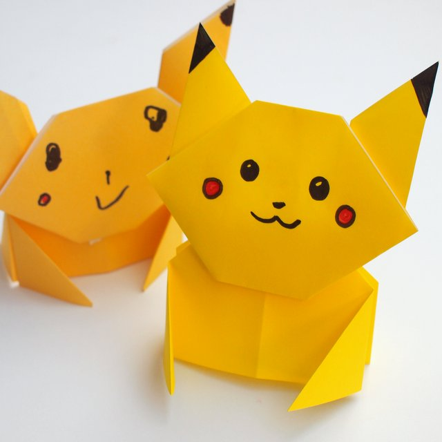 27 Inspired Picture of Pikachu Origami Pokemon | Einfaches origami ... | 640x640