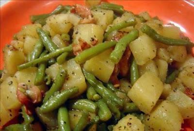 Crockpot Ham, Green Beans and Potatoes