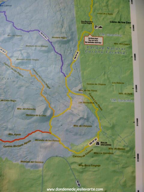 Ruta Arenas Negras-Chinyero (ruta circular)