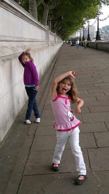 Goofing around in London